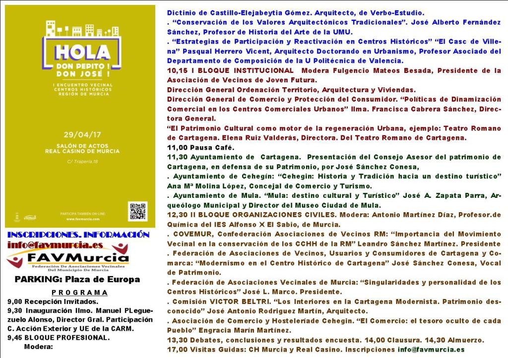 Programa IEncuentroCCHHdelaRM
