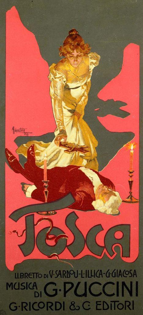 Poster-opera-Giacomo-Puccini-Tosca-1906